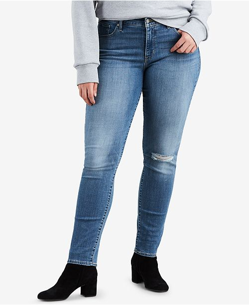 981ec0f49f6 Levi s Plus Size 311 Shaping Distressed Skinny Jeans  Levi s Plus Size 311  Shaping Distressed Skinny ...