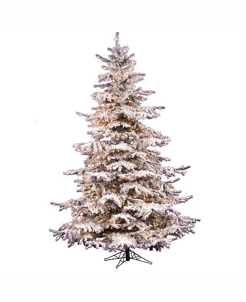 Vickerman 6.5' Flocked Sierra Fir Artificial Christmas ...