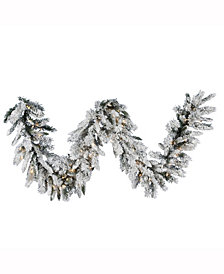 9' Snow Ridge Artificial Christmas Garland with 100 Clear Lights