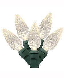 Vickerman 100 Warm White C6 LED Light on Green Wire, 34' Christmas Light Strand