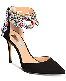 I.N.C. Women's Kallista Ankle-Strap Pumps, Created for Macy's