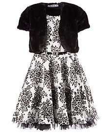 Beautees Big Girls 2-Pc. Faux-Fur Shrug & Dress Set