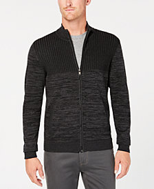 Alfani Men's Textured Zip Cardigan, Created for Macy's