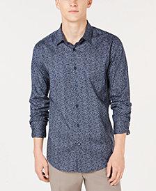 Alfani Men's Woven Geometric Shirt, Created for Macy's