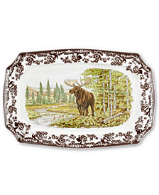 Spode Woodland Moose Rectangular Platter