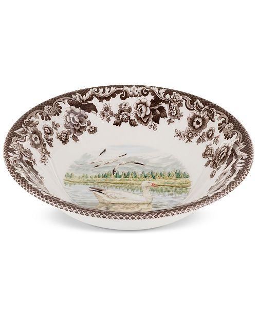 Spode Woodland Snow Goose Cereal Bowl