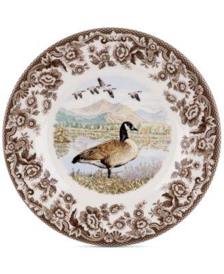 Woodland Canada Goose Salad Plate