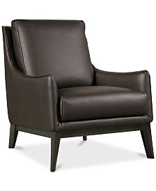 CLOSEOUT! Fanna Leather Accent Chair