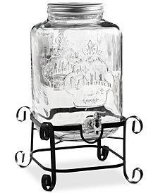 Jay Imports La Maison Beverage Dispenser Set with Galvanized Rack