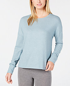 Alfani Brushed Hacci Knit Pajama Top, Created for Macy's