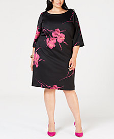 Betsey Johnson Plus Size Floral Dress