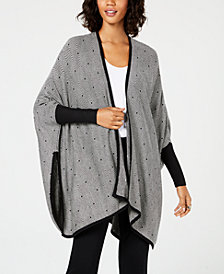 Alfani Patterned Poncho Cardigan, Created for Macy's