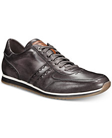 Massimo Emporio Men's Retro Runner Leather Sneakers, Created For Macy's