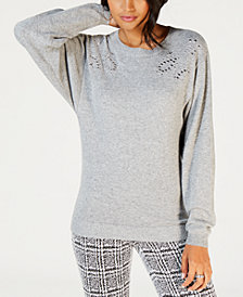 MICHAEL Michael Kors Embellished Dolman-Sleeve Sweater