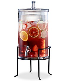 2.5-Gallon Beverage Dispenser with Metal Stand