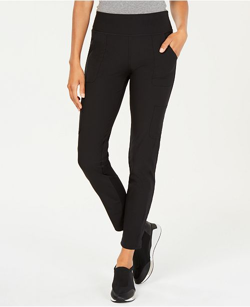 Ideology Knit Back Woven Pants, Created for Macy's