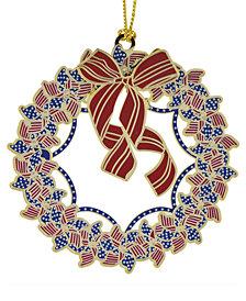 ChemArt Flag Wreath Ornament