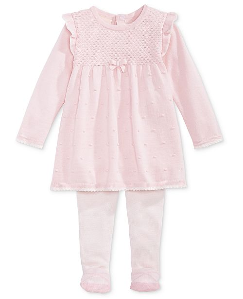72e1fedae2e7e ... First Impressions Baby Girls Sweater Dress & Footed Tights Set, Created  for Macy's ...