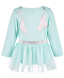 First Impressions Baby Girls Skate-Print Tutu Bodysuit, Created for Macy's
