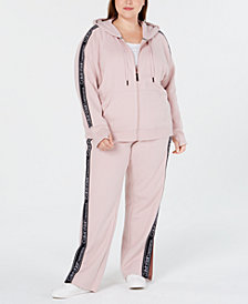 Calvin Klein Performance Plus Size Relaxed Zip Hoodie & Vented Pants
