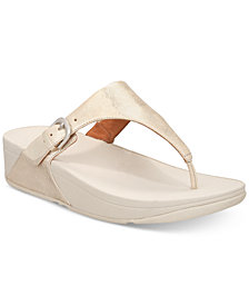 FitFlop Skinny Toe-Thong Wedge Sandals