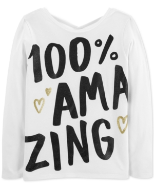 Carters Little  Big Girls Amazing Graphic Cotton Shirt