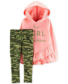 Carter's Toddler Girls 2-Pc. Hooded Tunic & Leggings Set