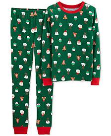 Carter's Little & Big Boys 2-Pc. Holiday-Print Snug-Fit Cotton Pajama Set