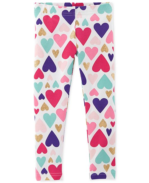 c4d9cbd638dbe Carter's Toddler Girls Heart-Print Leggings & Reviews - Leggings ...
