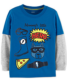 Carter's Toddler Boys Hero Graphic Layered-Look Cotton Shirt
