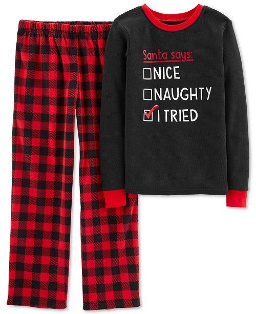 d08babb90 Carter s Little   Big Boys 2-Pc. Plaid Pajama Set   Reviews - Pajamas ...