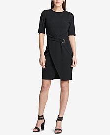DKNY Faux-Wrap Sheath Dress, Created for Macy's