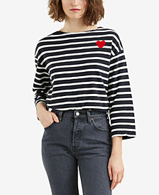 Levi's® Cotton Striped Heart-Graphic T-Shirt