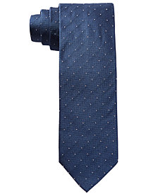 HUGO Men's Navy Dot Slim Silk Tie