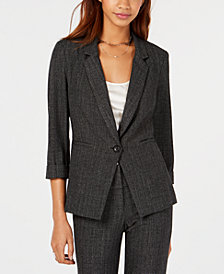 BCX Juniors' Textured One-Button Blazer