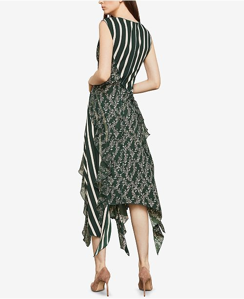 SPRUCECOMB BCBGMAXAZRIA Print Mixed Asymmetrical Dress IXX6q4