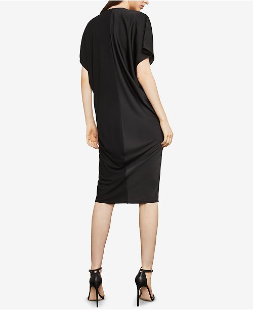 Bcbgmaxazria Two Tone Draped Shift Dress Bcbgmaxazria Women Macys