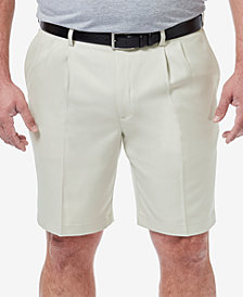 "Haggar Men's Big & Tall Cool 18 PRO Classic-Fit Stretch Pleated 9.5"" Shorts"