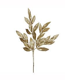 "22"" Gold Glitter BayLeaf Artificial Christmas Spray, 12 per Bag"