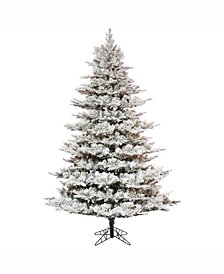 "7.5' x 60"" Flocked Kiana Artificial Christmas Tree"