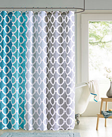 """90 Degrees by Design Lab Dani 72"""" x 72"""" Printed Shower Curtain and Hook Set"""