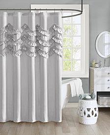 """Intelligent Design Aurora 72"""" x 72"""" Ruffle Shower Curtain"""