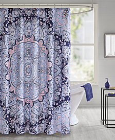 """Intelligent Design Odette 72"""" x 72"""" Printed Shower Curtain"""