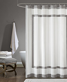"Madison Park Greyson 72"" x 72"" Cotton Shower Curtain"