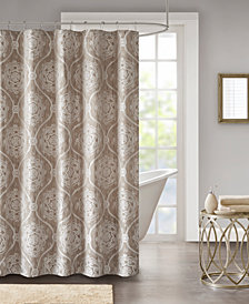 "Madison Park Dora 72"" x 72"" Jacquard Shower Curtain"
