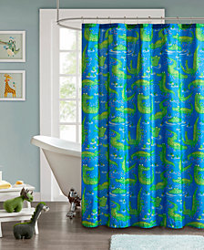 "Mi Zone Kids Kyle the Crocodile 72"" x 72"" Printed Shower Curtain"