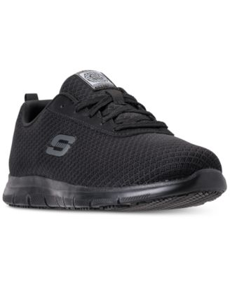 Women's Work Relaxed Fit: Ghenter Bronaugh Slip Resistant Athletic Work Sneakers from Finish Line