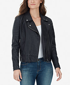 WILLIAM RAST Alexa Faux Leather Moto Jacket