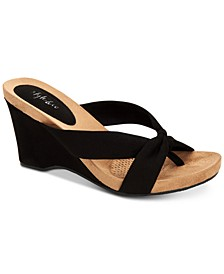Chickaa Wedge Sandals, Created for Macy's