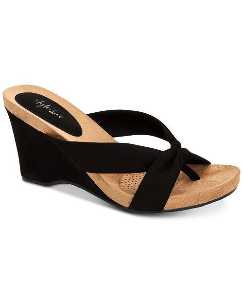 Style & Co Chickaa Wedge Sandals, Created for Macy's